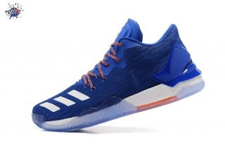 Meilleures Adidas Derrick Rose VII 7 Low Bleu Rouge (by4499)