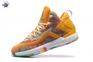 Meilleures Adidas John Wall 2 Boost Primeknit Jaune Multicolore