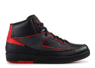 "Meilleures Air Jordan 2 Retro ""Alternate 87"" Noir Rouge (834274-001)"