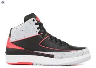 "Meilleures Air Jordan 2 Retro ""Infrared 23"" Noir Orange (385475-023)"