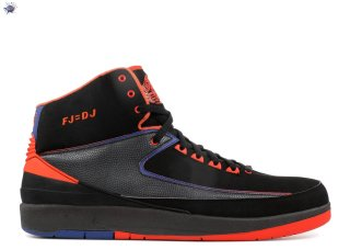 "Meilleures Air Jordan 2 Retro Pe ""Fred Jones ""Away"""" Noir Orange Bleu (mjord65874513)"