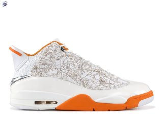 Meilleures Air Jordan Dub Zero Blanc Orange (311046-111)