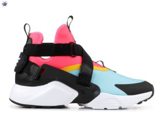 "Meilleures Nike Air Huarache Run ""City"" Noir Rose Bleu (ah6787-400)"