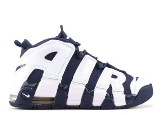 "Meilleures Nike Air More Uptempo (Gs) ""Olympic"" Blanc Marine (415082-104)"