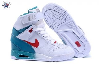 Meilleures Nike Air Revolution Sky High Wedge Sneakers Blanc Bleu Rouge