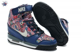 Meilleures Nike Air Revolution Sky High Wedge Sneakers Bleu Multicolore (599410-200)