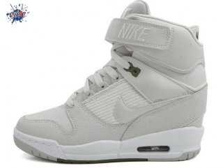 Meilleures Nike Air Revolution Sky High Wedge Sneakers Gris Blanc