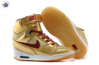 Meilleures Nike Air Revolution Sky High Wedge Sneakers Or