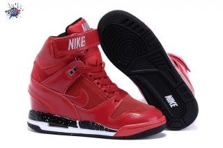 Meilleures Nike Air Revolution Sky High Wedge Sneakers Wedge Rouge Noir