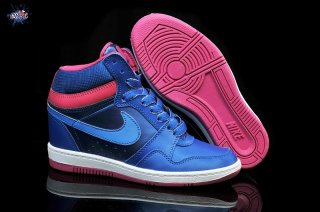 Meilleures Nike Dunk Sky High Wedge Sneakers Bleu