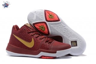 Meilleures Nike Kyrie Irving III 3 Rouge Or Blanc