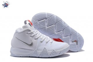 Meilleures Nike Kyrie Irving IV 4 Blanc Rouge Argent