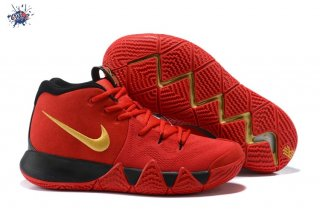 Meilleures Nike Kyrie Irving IV 4 Rouge Or Noir