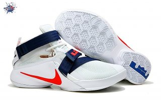 "Meilleures Nike Lebron Soldier IX 9 ""Usa"" Marine Rouge Blanc"