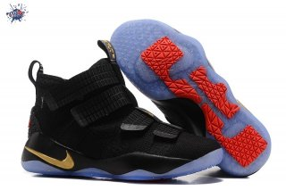 Meilleures Nike Lebron Soldier XI 11 Noir Or Rouge