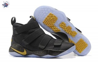 Meilleures Nike Lebron Soldier XI 11 Noir Or