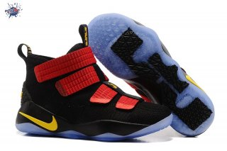 Meilleures Nike Lebron Soldier XI 11 Noir Rouge Or