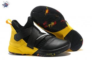 Meilleures Nike Lebron Soldier XII 12 Blac Yellow