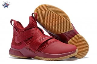 Meilleures Nike Lebron Soldier XII 12 Rouge Marron