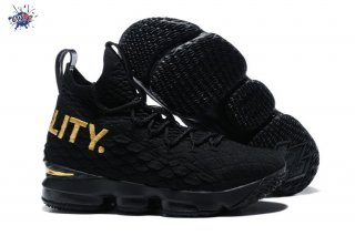 "Meilleures Nike Lebron XV 15 ""Equality"" Noir Or (897648-007)"