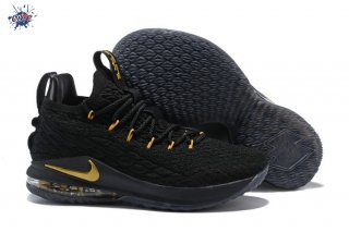 Meilleures Nike Lebron XV 15 Low Noir Or