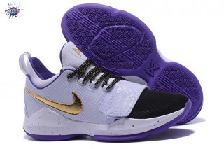 Meilleures Nike PG 1 Blanc Pourpre Or