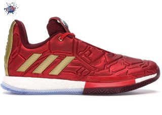 "Meilleures Adidas Harden Vol.3 ""Marvel Iron Man"" Rouge (EF2397/EF2524)"