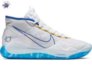 "Meilleures Nike KD XII 12 Warriors ""Home"" Bianco Bleu (AR4229-100)"