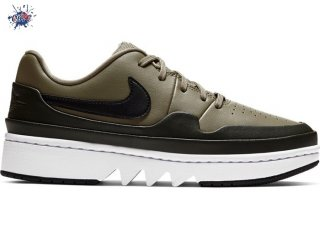 "Meilleures Air Jordan 1 Low Jester XX Femme ""Laced Trooper"" Olive (CI7815-201)"