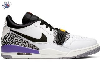 "Meilleures Air Jordan Legacy 312 Low ""Lakers"" Noir Blanc Pourpre (CD7069-102)"