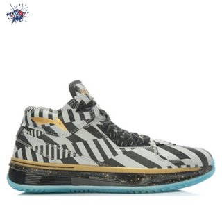"Meilleures Li Ning Way Of Wade 2 ""Birthday"" Noir Argent Or (ABAH017-17)"