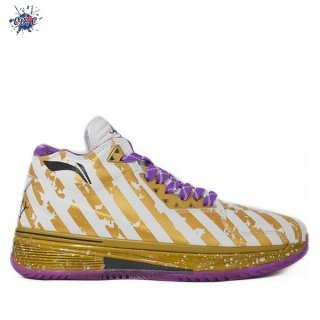 "Meilleures Li Ning Way Of Wade 2 ""Dynasty"" Blanc Or Pourpre (ABAH017-7)"