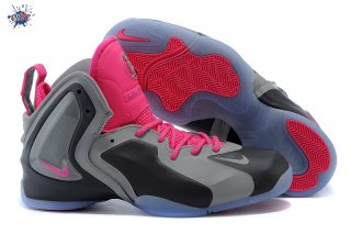 Meilleures Nike Lil Penny Posite Gris Rose
