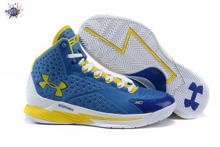 Meilleures Under Armour Curry 1 Bleu Jaune Blanc