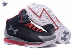 Meilleures Under Armour Curry 1 Gris Noir