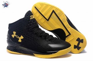 Meilleures Under Armour Curry 1 Jaune Noir