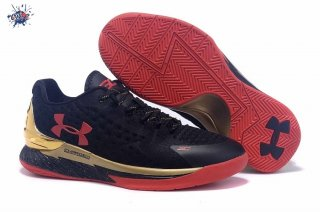 Meilleures Under Armour Curry 1 Noir Rouge Or