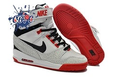 Meilleures Nike Air Revolution Sky High Wedge Sneakers Blanc Noir Rouge (599410-010)