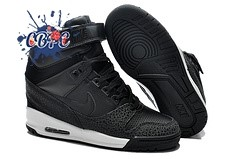 Meilleures Nike Air Revolution Sky High Wedge Sneakers Noir (599410-003)