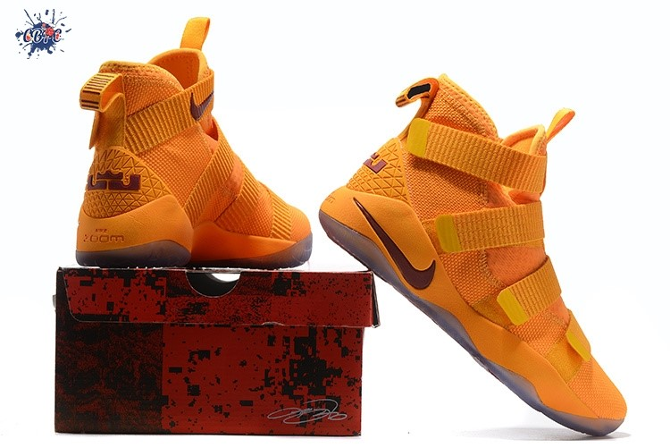 Meilleures Nike Lebron Soldier XI 11 Or Rouge